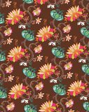 Oriental Floral Pattern stock illustration