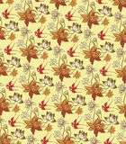 Oriental Floral Pattern with Birds. Illustration of Oriental Floral Pattern with Birds Stock Photos