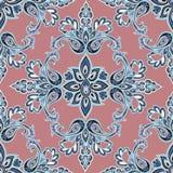Oriental floral seamless pattern. Flower geometric ornamental ba Royalty Free Stock Photos