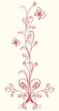 Oriental flower stock illustration
