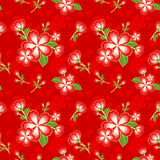 Oriental Flower Chinese Seamless Pattern Stock Photo