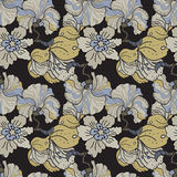 Oriental flowers blossom floral seamless pattern Royalty Free Stock Images