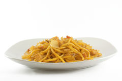 Oriental food. Chinese food - Chow mien Stock Photography
