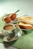 Oriental food and coffee. Malaysian oriental traditional breakfast set Stock Photo