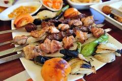 Oriental food - Shish kebab Royalty Free Stock Images