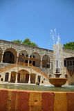 Oriental fountain. An ancient fountain at historical palace of beiteddine nda Beirut lebanon Royalty Free Stock Images