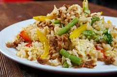 Oriental fried rice tyahan - Royalty Free Stock Photo