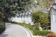 Oriental Garden Surrounding Wall Royalty Free Stock Images