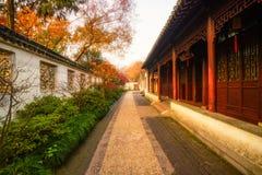 Oriental garden morning landscape Stock Image