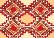 Oriental geometric carpet vector Royalty Free Stock Image
