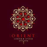 Oriental geometric design arabic pattern logo template. Oriental geometric design arabic pattern logo template Royalty Free Stock Photo