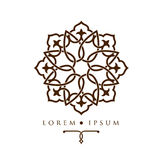 Oriental geometric design arabic pattern logo template. Oriental geometric design arabic pattern logo template Royalty Free Stock Images