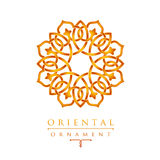 Oriental geometric design arabic pattern logo template. Oriental geometric design arabic pattern logo template Stock Photos