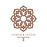 Oriental geometric design arabic pattern logo template. Oriental geometric design arabic pattern logo template Royalty Free Stock Image