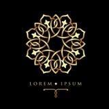 Oriental geometric design spa pattern logo template. Oriental geometric design spa pattern logo template Royalty Free Stock Photos