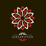 Oriental geometric design spa pattern logo template. Oriental geometric design spa pattern logo template Royalty Free Stock Photo