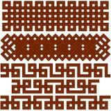 Oriental geometrical seamless borders Royalty Free Stock Photography