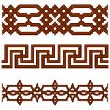 Oriental geometrical seamless borders Stock Image