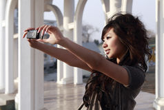 An Oriental girl royalty free stock images