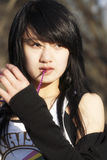 An Oriental girl. A beautiful Chinese girl art portraits Royalty Free Stock Photo