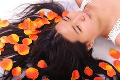 Oriental girl posing in studio Stock Photo