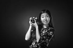Oriental girl posing in studio Stock Photos