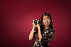 Oriental girl posing in studio Stock Image