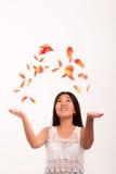 Oriental girl posing in studio Royalty Free Stock Image