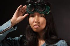 Oriental girl posing in studio Royalty Free Stock Photography