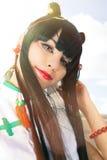 Oriental girl wearing makeup. Manga Cosplay Royalty Free Stock Photo