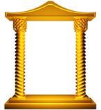 Oriental gold frame Stock Photo