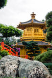 oriental golden pavilion of Chi Lin Nunnery Stock Photography