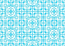 Seamless Floral Blue Abstract Oriental Ornamental Chinese Arabic Islamic Festival Pattern Texture Background Wallpaper. Oriental. Gong Xi Fa Cai, Ramadan Mubarak Stock Photography