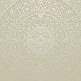 Oriental gray background with ornament. Vector oriental gray background with ornament Royalty Free Stock Photo