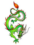 Oriental green dragon flying Royalty Free Stock Photo