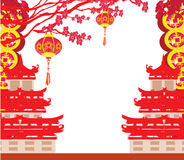 Oriental Happy Chinese New Year Royalty Free Stock Photography