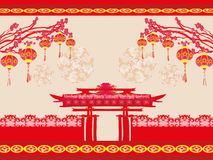 Oriental Happy Chinese New Year card Royalty Free Stock Images
