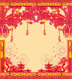 Oriental Happy Chinese New Year card Stock Photos
