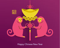 Oriental Happy Chinese New Year Vector. Design Stock Photography