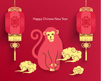 Oriental Happy Chinese New Year Vector. Design Stock Images
