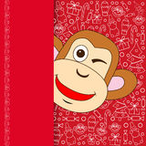 Oriental Happy Chinese New Year 2016 Year of Monkey Vector Design stock images