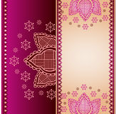 Oriental henna paisley banner design Stock Photography