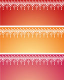 Oriental henna pattern banners Stock Photography