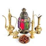 Oriental holidays decoration Islamic hospitality Ramadan Stock Photos
