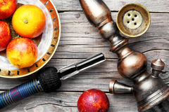 Oriental hookah with orange taste Stock Image