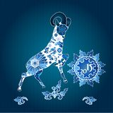 Oriental horoscope, Year of the Goat Royalty Free Stock Images