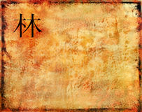 Oriental ideogram on texture backgound Royalty Free Stock Photography