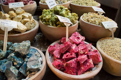 Oriental incenses in a souk Royalty Free Stock Photos
