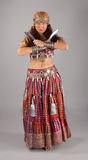Oriental indian dancer with knifes Stock Image
