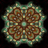 Oriental jade and pearl mandala. Abstract fractal image resembling an oriental jade and pearl mandala Stock Photography